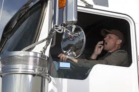 truck driver yawning
