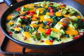 Pan with colorful veggies