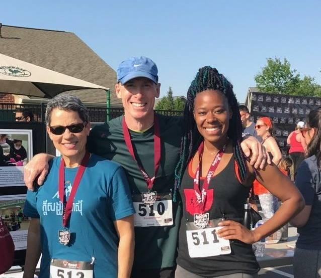 Dr. Sheridan and team at a marathon